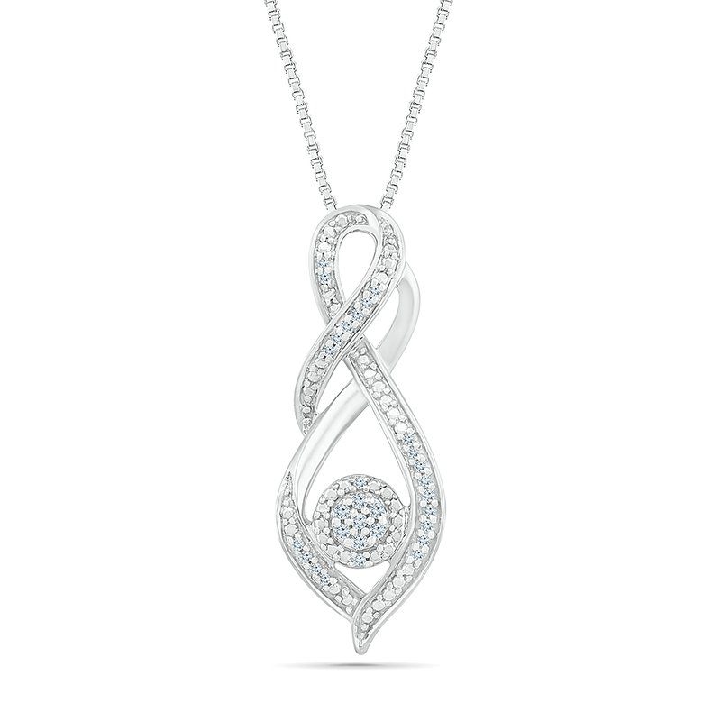 Gifts That Rock 1/10ctw Verticle Infinity Necklace
