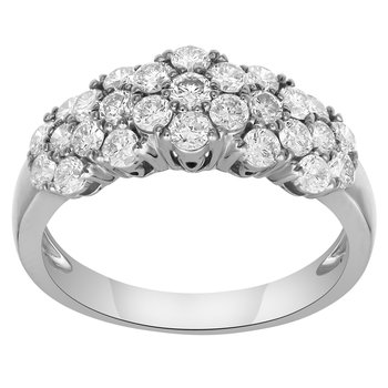 WG 1.15ctw Cluster Fashion Ring