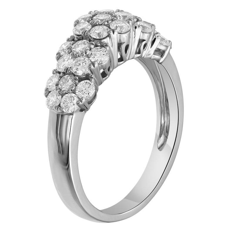 Lab Grown Diamonds WG 1.15ctw Cluster Fashion Ring