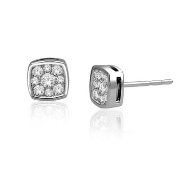 .33ctw Cushion Bezel Earrings