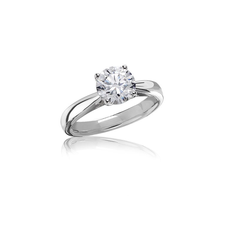 Lab Grown Diamonds Certified 2ct Round Brilliant Solitaire