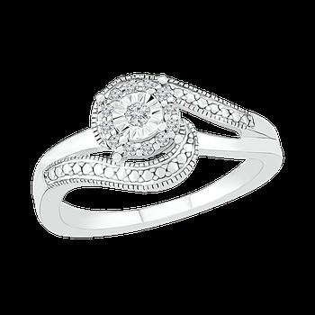 Diamond Illusion Halo Ring