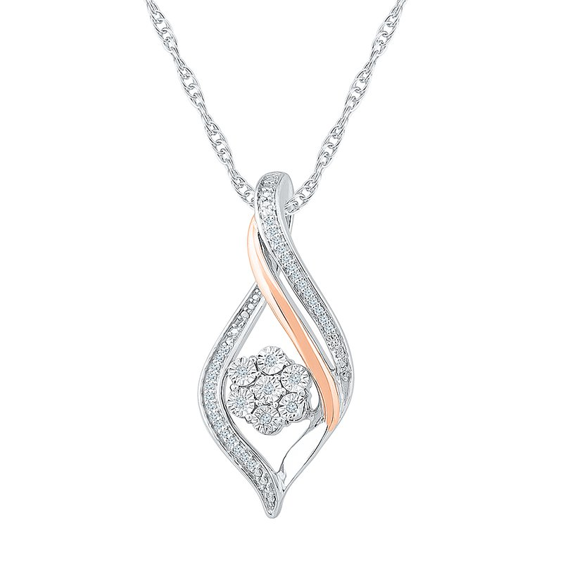 Gifts That Rock .06ctw Diamond Cluster Necklace