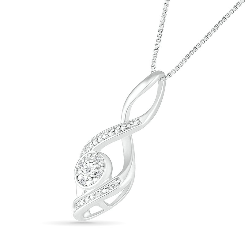 Gifts That Rock Diamond Swirl Necklace