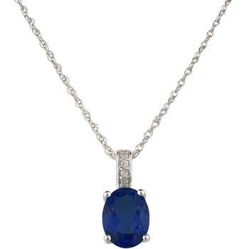 14kw Sapphire / Diamond Pendant