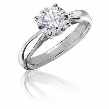 1ctw Round Diamond Solitaire Engagement Ring