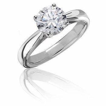 1ctw Round Diamond Solitaire Engagement Ring