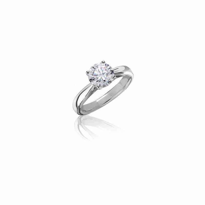 Lab Grown Diamonds 1ctw Round Diamond Solitaire Engagement Ring