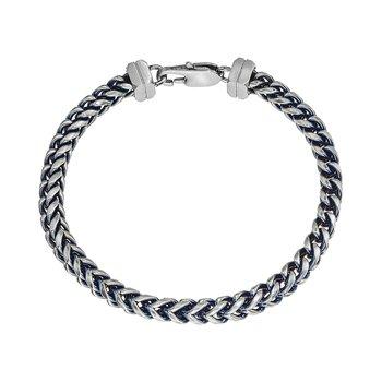 Blue Steel H-Bone Chain Bracelet