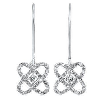 1/4ct Love Crossing Earrings