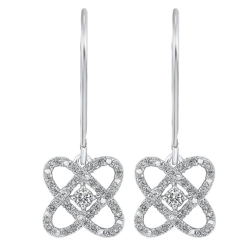 Gifts That Rock 1/4ct Love Crossing Earrings