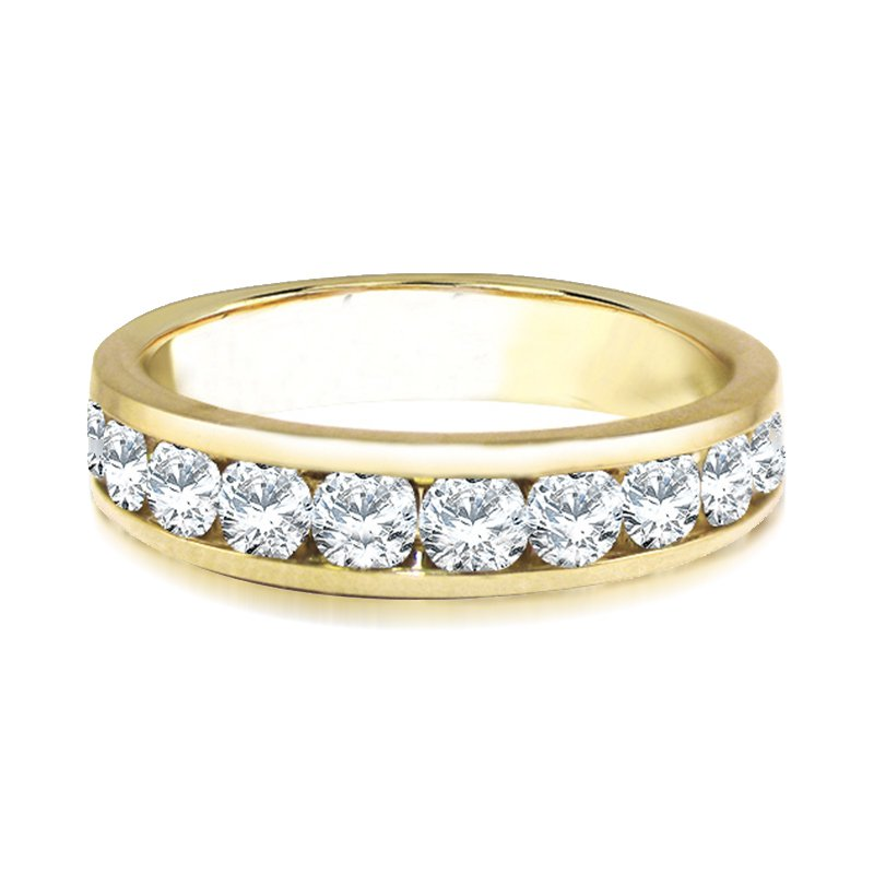 Saslow's & Henebry's Collection 14KY Diamond Channel Band .10ctw-1ctw