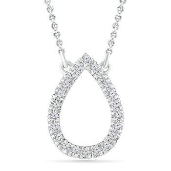 .10ctw Open Pear Diamond Necklace