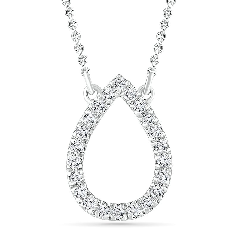 Gifts That Rock .10ctw Open Pear Diamond Necklace