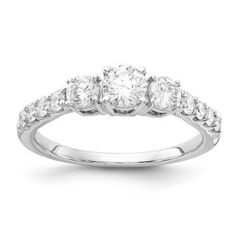 1 ctw Three Stone Engagement Ring