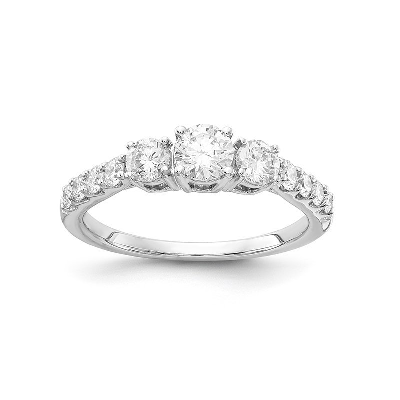 Lab Grown Diamonds 1 ctw Three Stone Engagement Ring