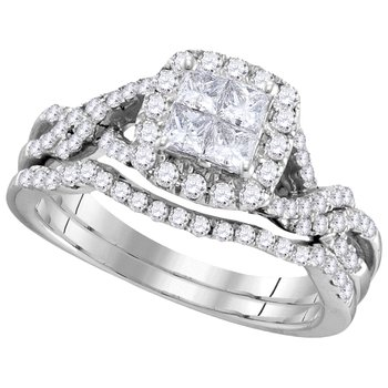 1ctw Princess Cut Bridal Set