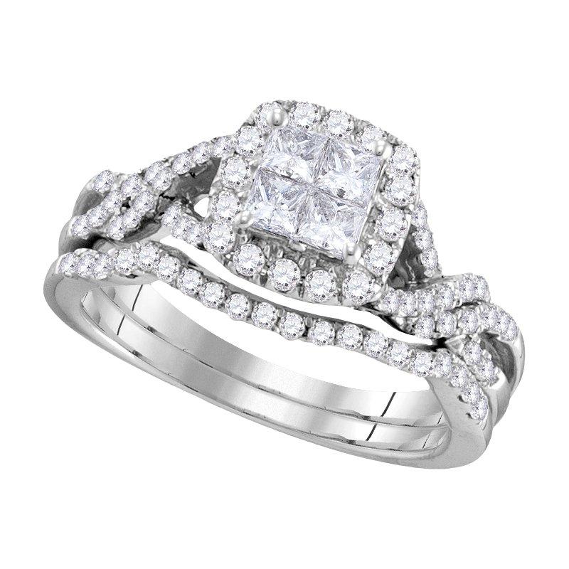 Promise Forever 1ctw Princess Cut Bridal Set