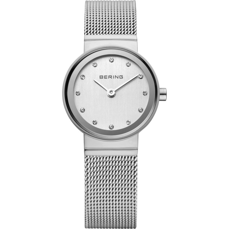Bering  Ladies SS Case & Bracelet With White Dial Watch