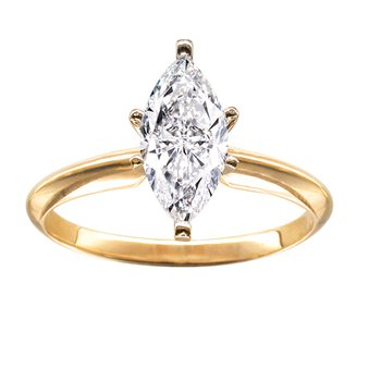 1/4 Ct Marquise Solitaire Engagement Ring