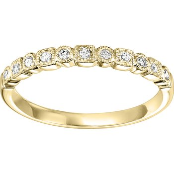 .10ctw Diamond Band Mixable Yellow Gold