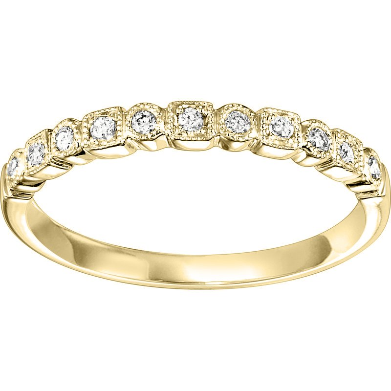 Saslow's & Henebry's Collection .10ctw Diamond Band Mixable Yellow Gold