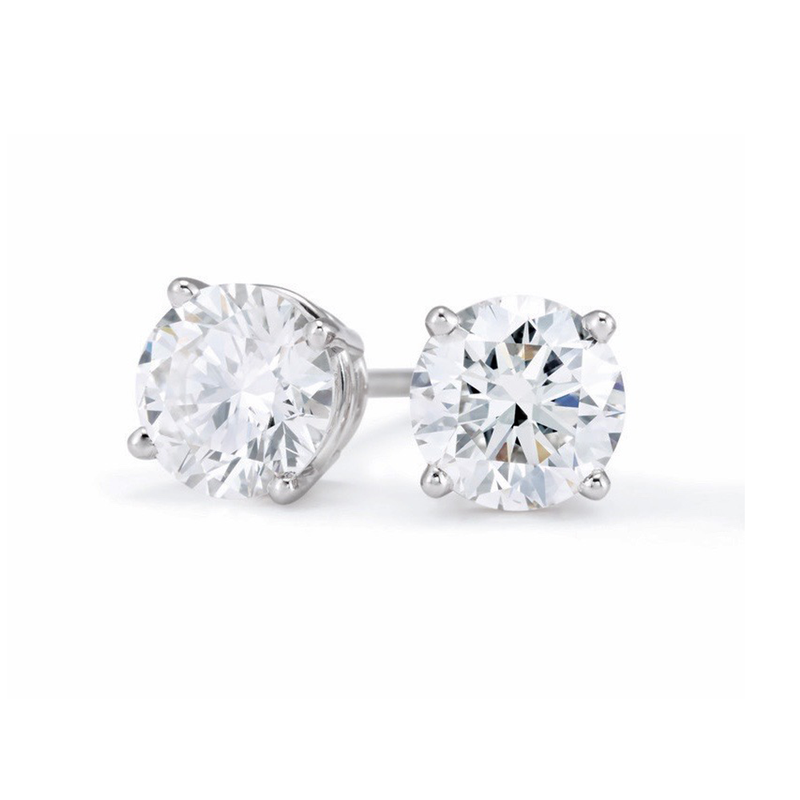 Saslow's & Henebry's Collection Diamond Stud Earrings