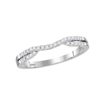 1/6ctw Curved Diamond Band Enhancer