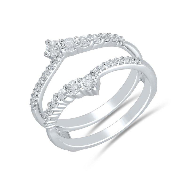 Saslow's & Henebry's Collection 14KW .62ctw Curved Diamond Insert
