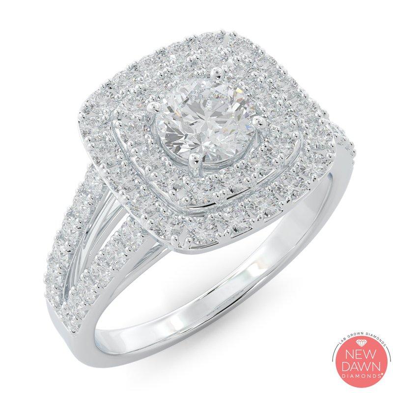 Lab Grown Diamonds 1.30 ctw Lab Grown Halo Engagement Ring