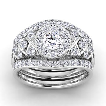 Certified 1ctw Diamond Engagement Ring