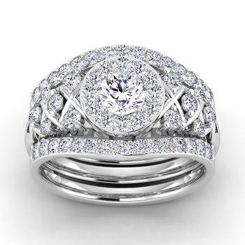 Certified 1ctw Diamond Engagement Ring