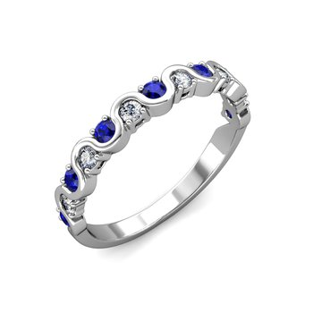 """The Royal"" Sapphire & Diamond Wave Ring"