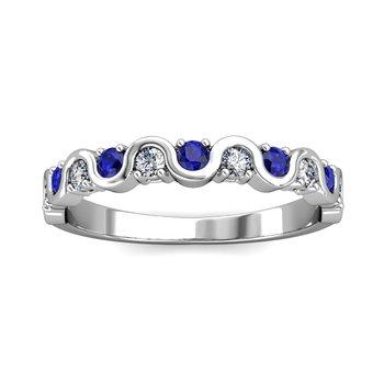 """The Royal"" Sapphire & Diamond Wave Ring"
