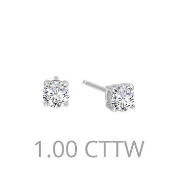 1 CTW Stud Earrings