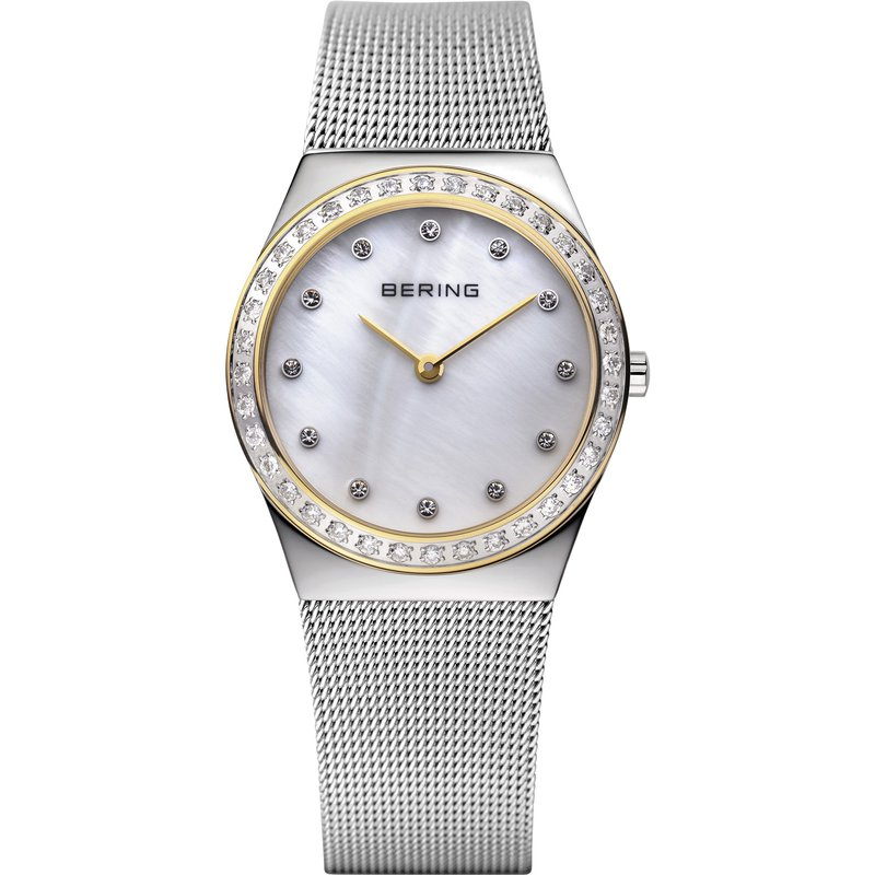 Bering  Two Tone Case & Bracelet, MOP Dial Watch