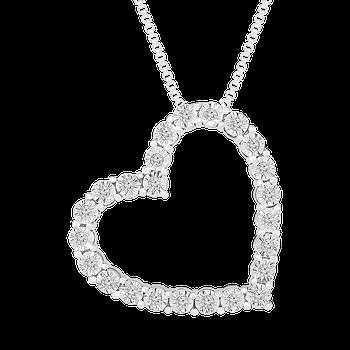 Diamond Illusion Heart Pendant