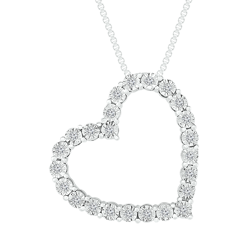 Gifts That Rock Diamond Illusion Heart Pendant