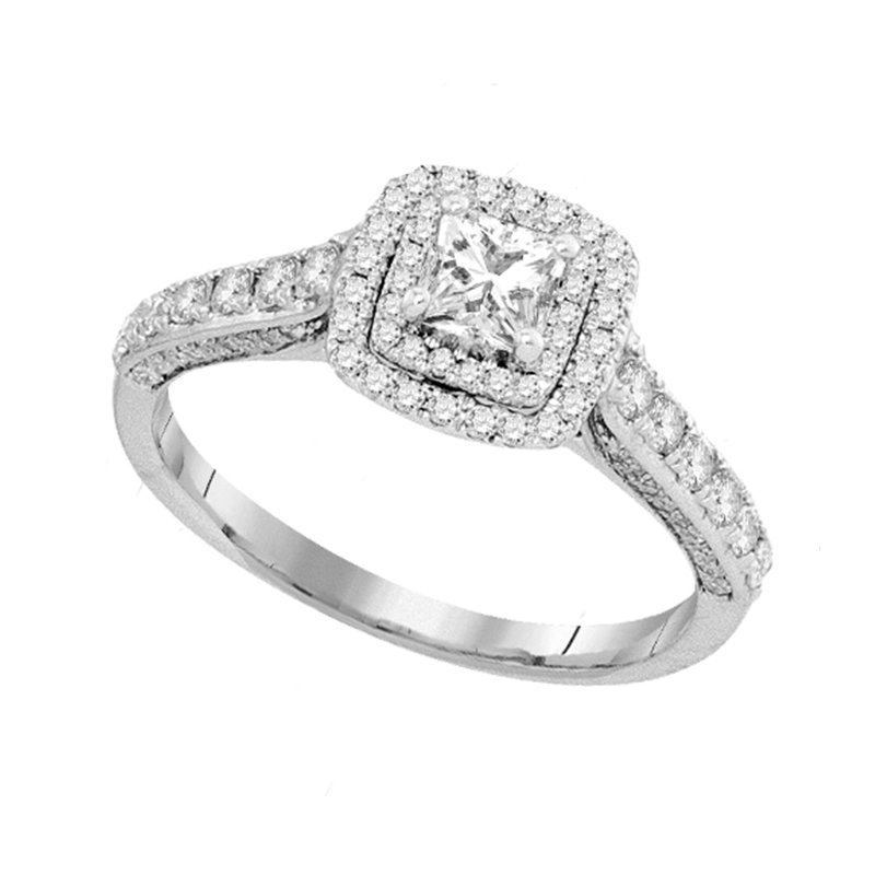 Promise Forever 1ctw Princess Cut Halo Diamond Ring