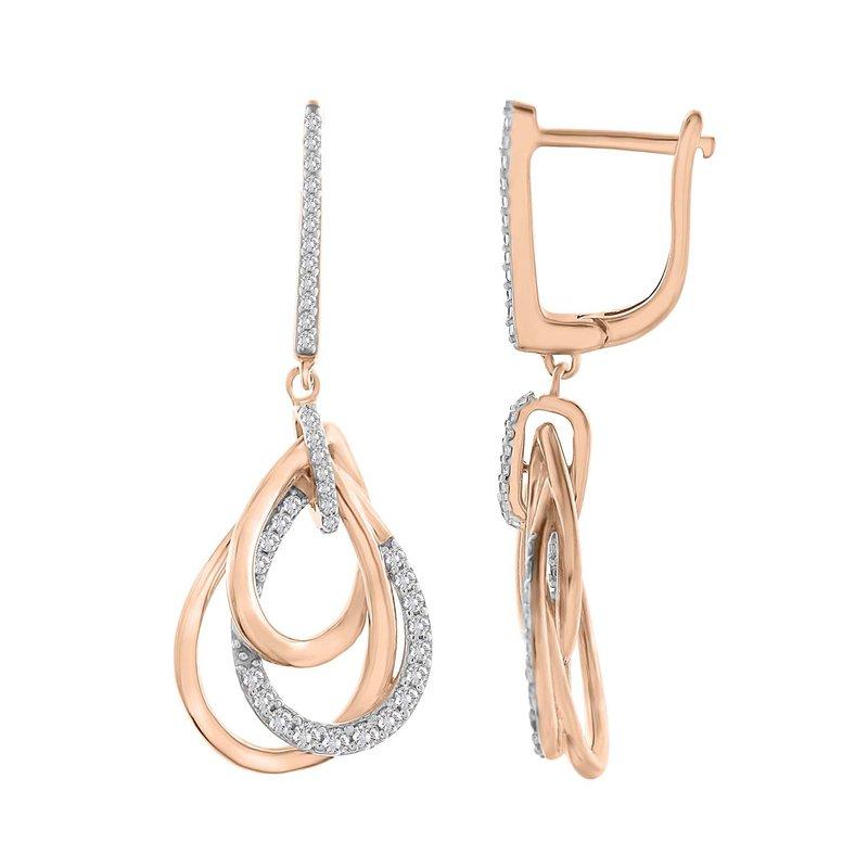Saslow's & Henebry's Collection 10KR .33ctw Triple Drop Earrings