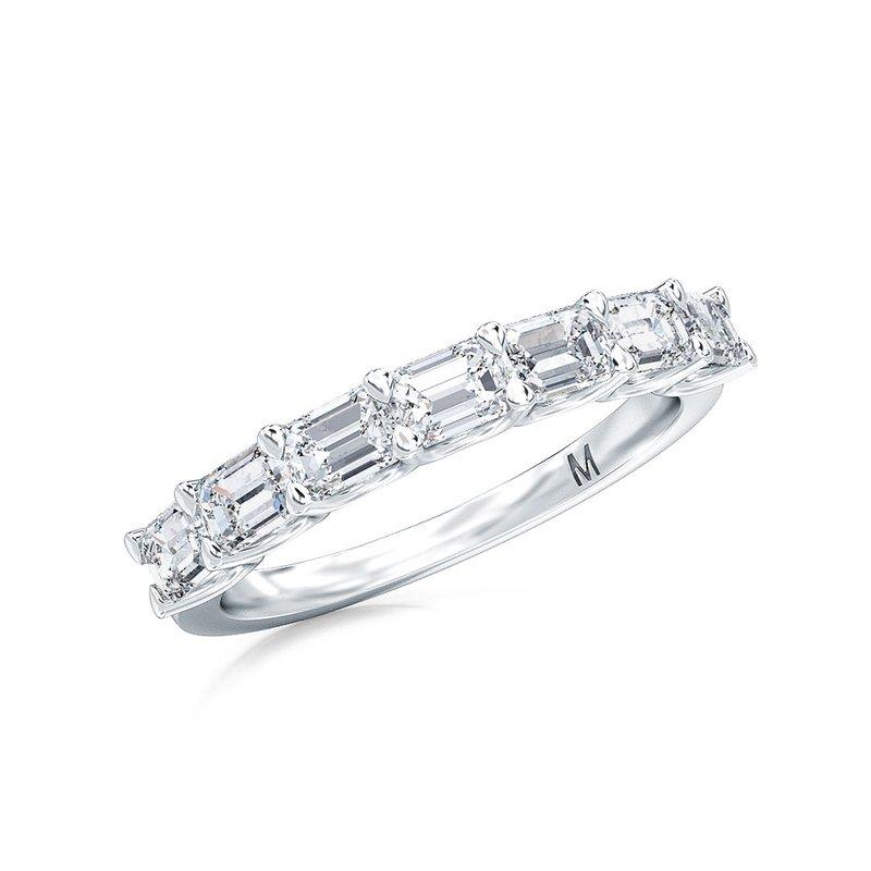 Lab Grown Diamonds Horizontal Set Emerald Cut Seven Stone Diamond Band