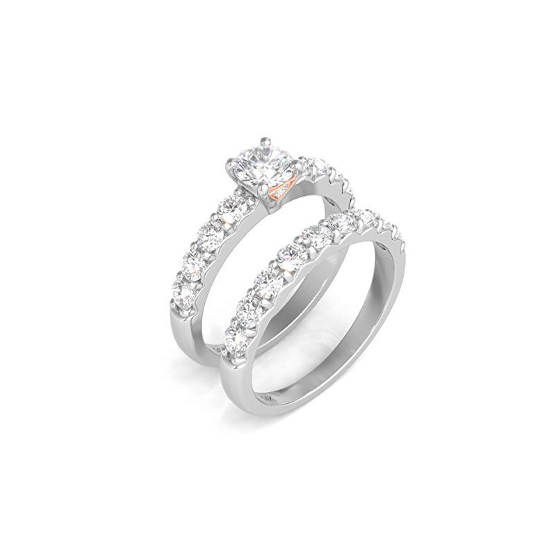 Promise Forever Certified 1.5ctw Bridal Set