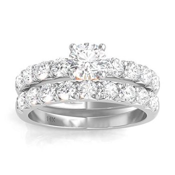 Certified 1.5ctw Bridal Set