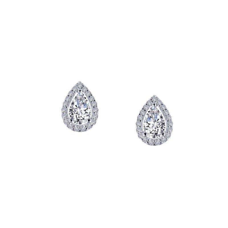 LaFonn 1.16 CTW Halo Stud Earrings