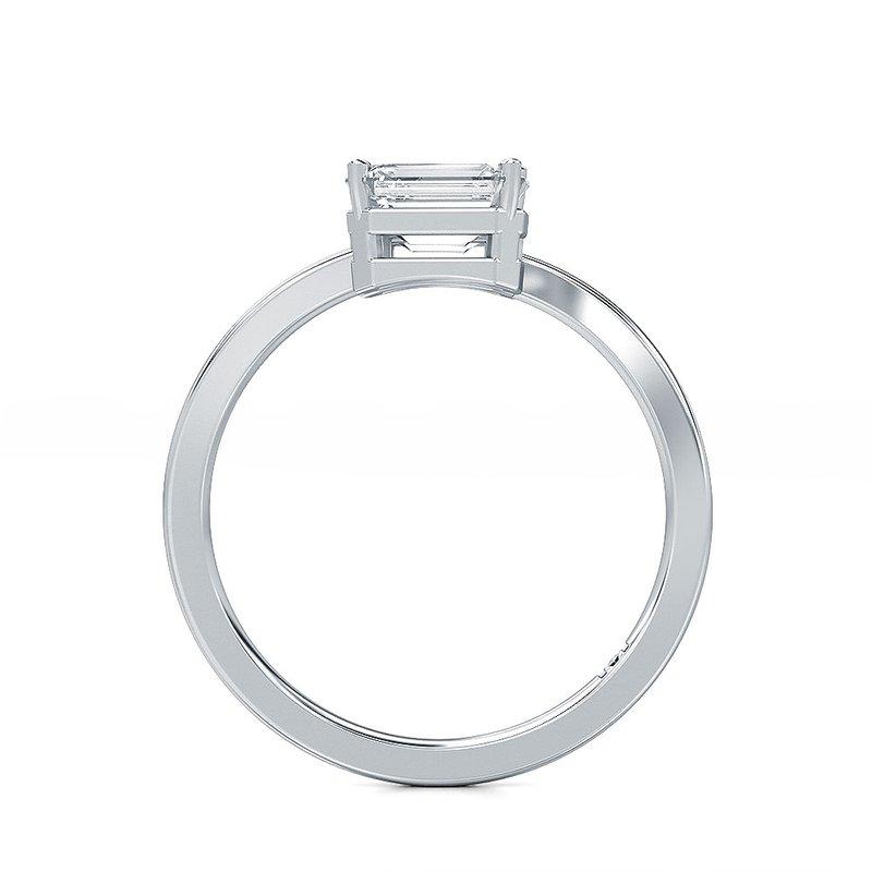 Lab Grown Diamonds Horizontal Set Emerald Cut Diamond Two Stone Ring