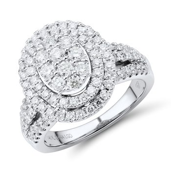 1.5ctw Diamond WG Double Halo Engagement Ring