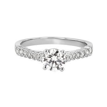 Certified 1 ctw Diamond Engagement Ring