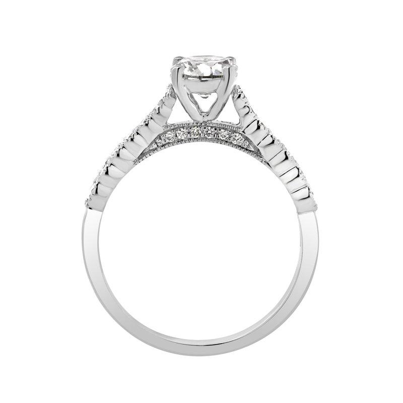 Lab Grown Diamonds Certified 1 ctw Diamond Engagement Ring