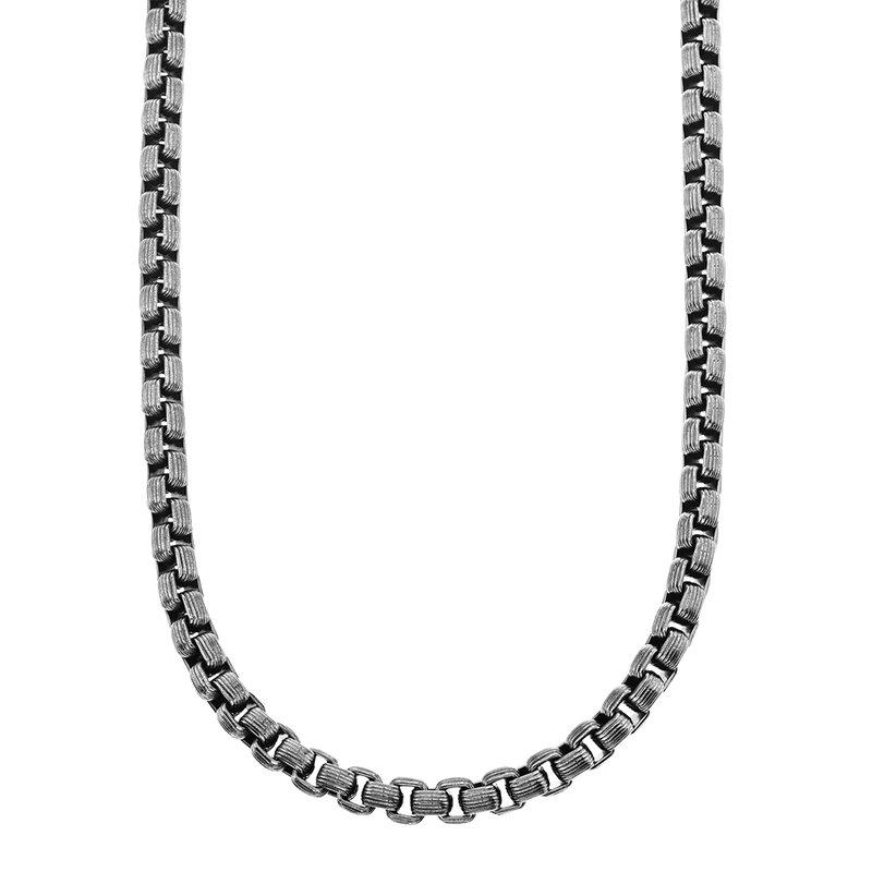 Esquire Men's Jewelry Steel Box Chain Necklace