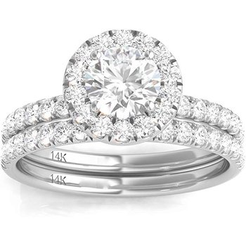 Certified 1-3/8ctw Bridal Set